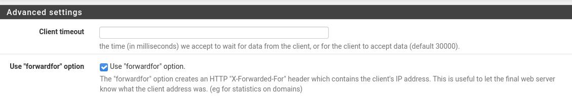 forwardfor option
